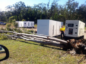 backup generator power during NSW floods