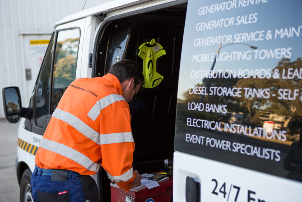 electrical contracting for diesel generator servicing