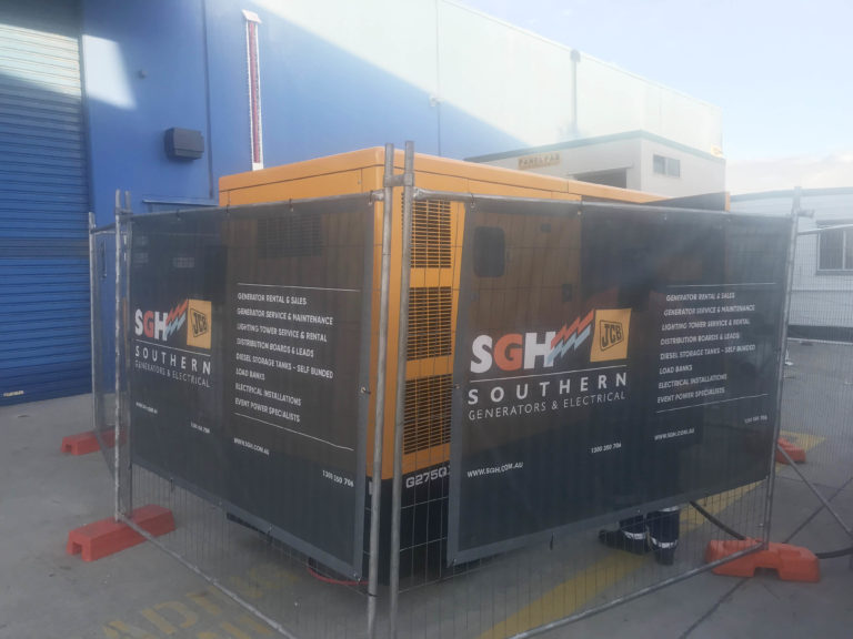 generator powers large industrial building in brisbane