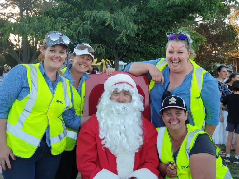 Generator company employee plays Santa for Queanbeyan council event