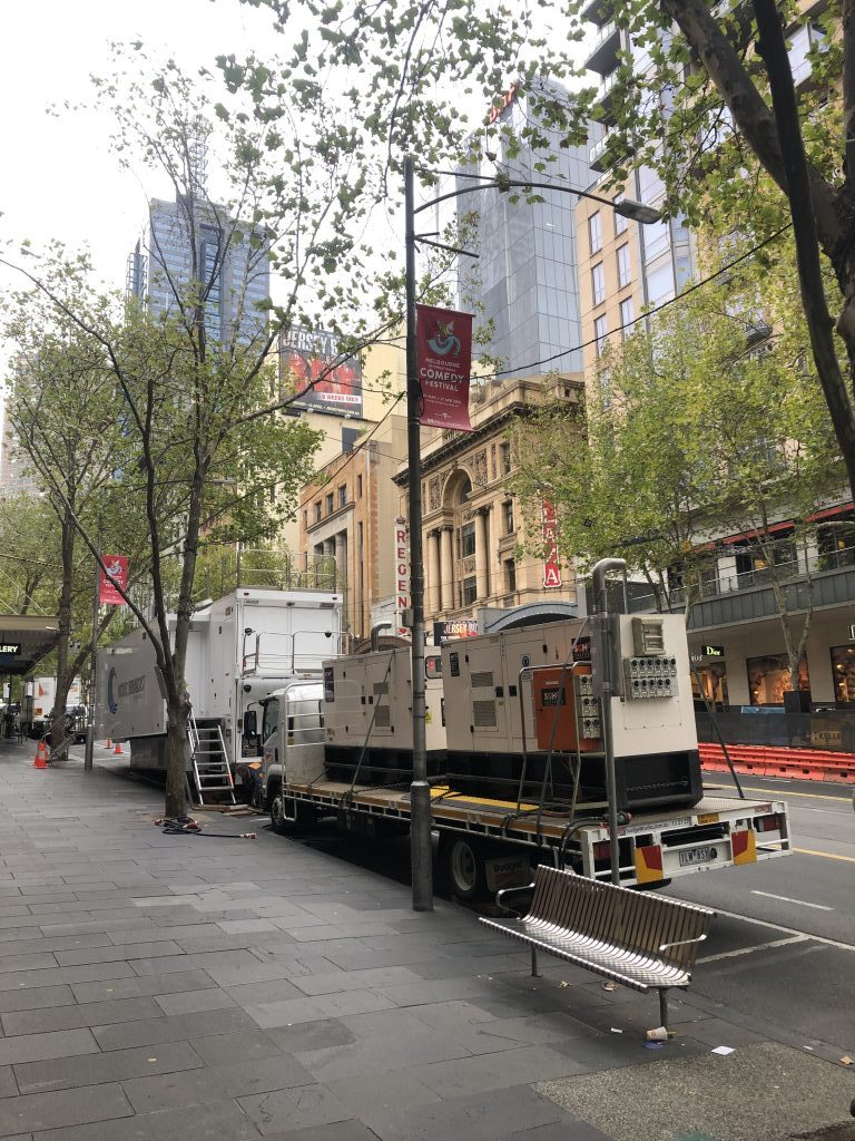power for film and television set melbourne
