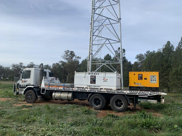 fuel pod and 20kva diesel generator on truck